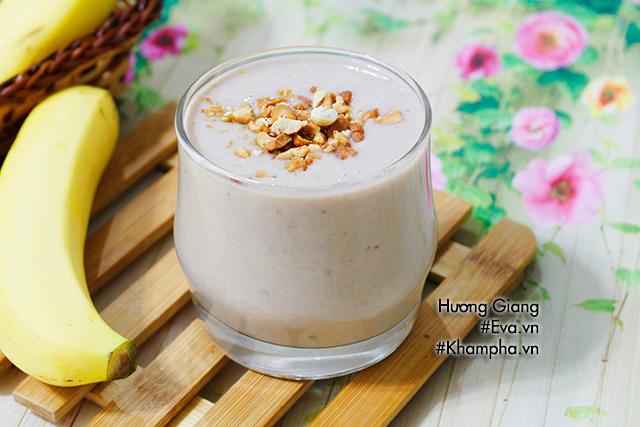 Sinh tố chuối sữa làm cực nhanh, ăn cực ngon