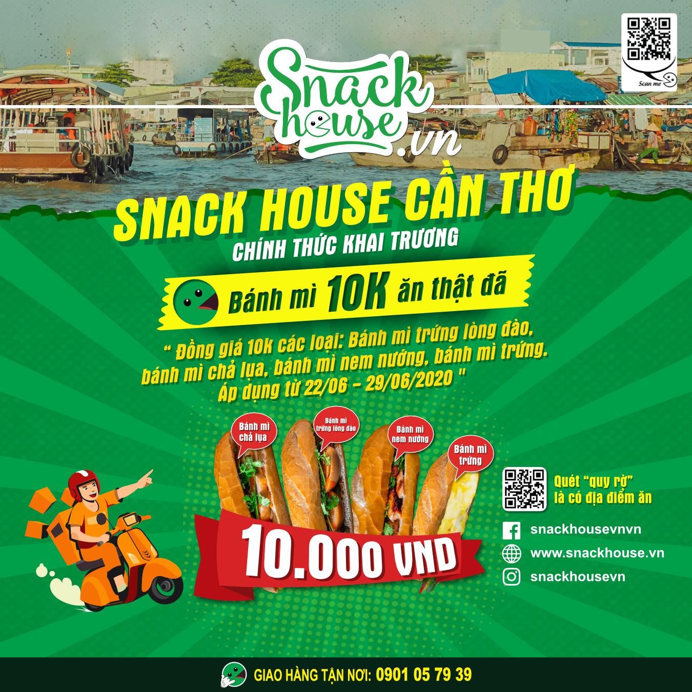 Snack House khai trương 2 chi nhánh đầu tiên tại Cần Thơ