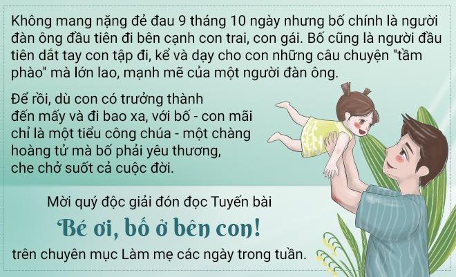 """mot minh nuoi con, bo don than hoi an khien nhieu trai tim thon thuc voi bo anh """"cha con"""" - 1"""