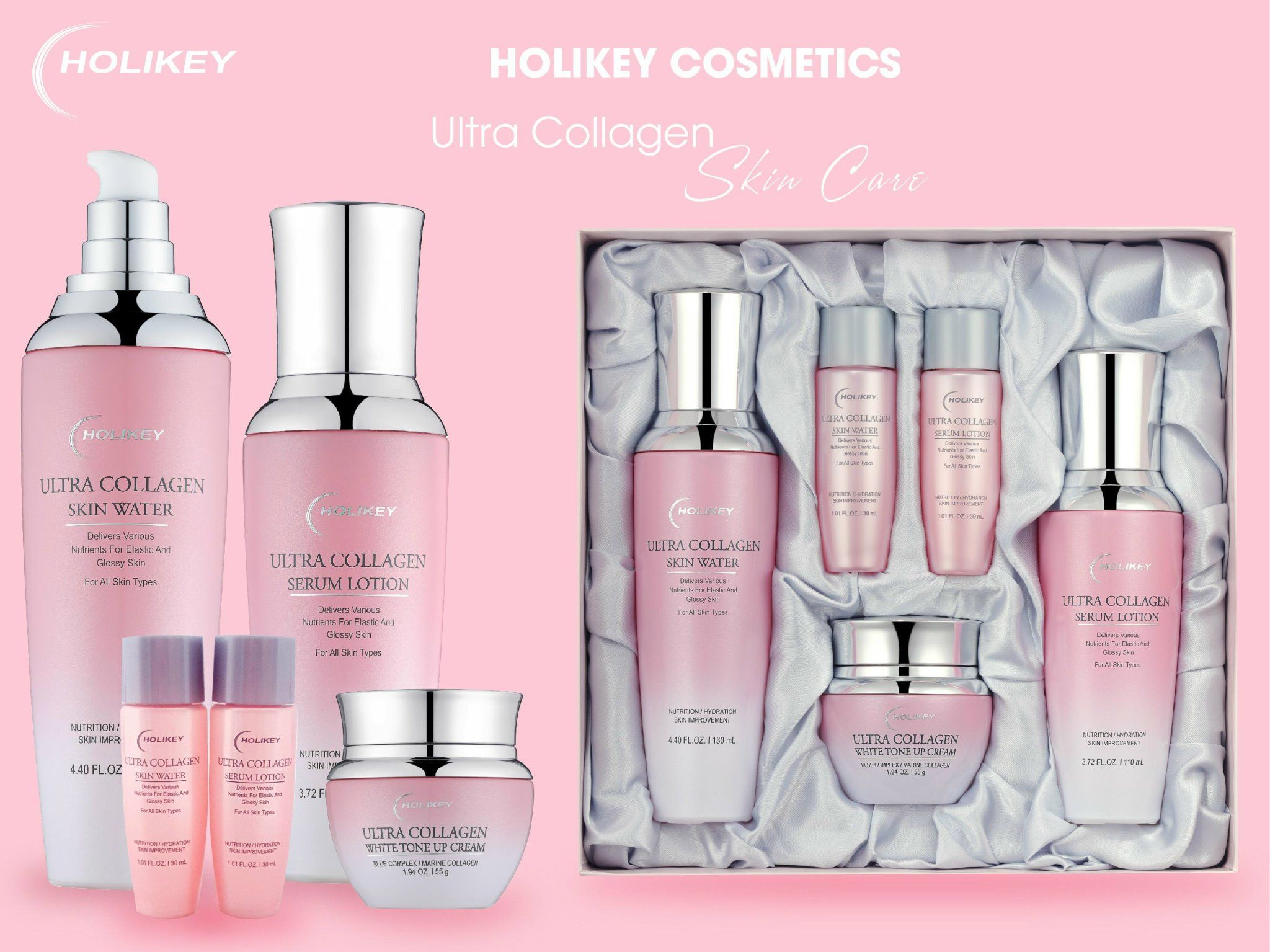 Trọn bộ siêu phẩm Holikey Cosmetic cho làn da trắng hồng rạng rỡ