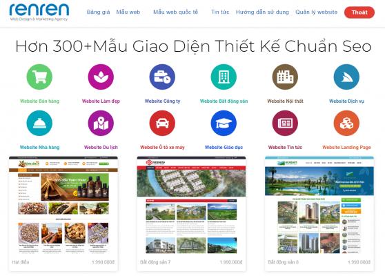 Renren.vn nền tảng thiết kế website chuyên nghiệp chỉ với vài cái click chuột !