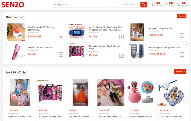 Sàn thương mại điện tử Senzo hỗ trợ Doanh nghiệp bán hàng trực tuyến hiệu quả